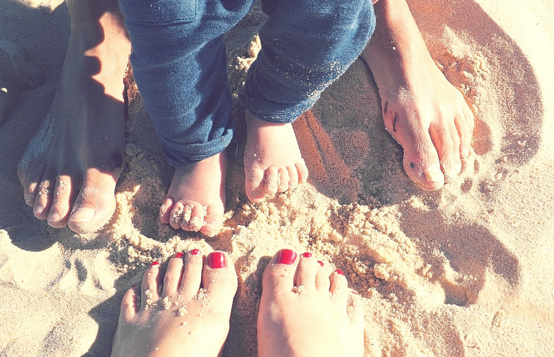 six feet on the beach